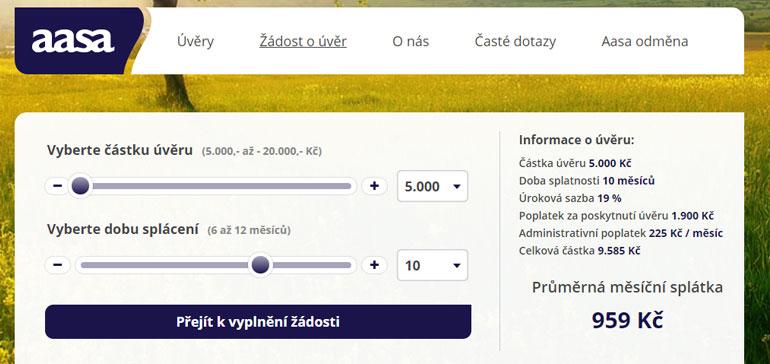 AASA půjčka recenze
