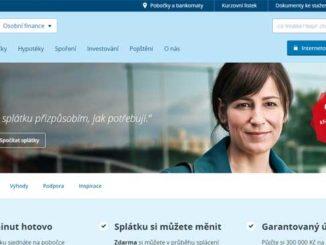 Náhled webu České spořitelny
