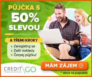 CreditGo půjčka se slevou 50%