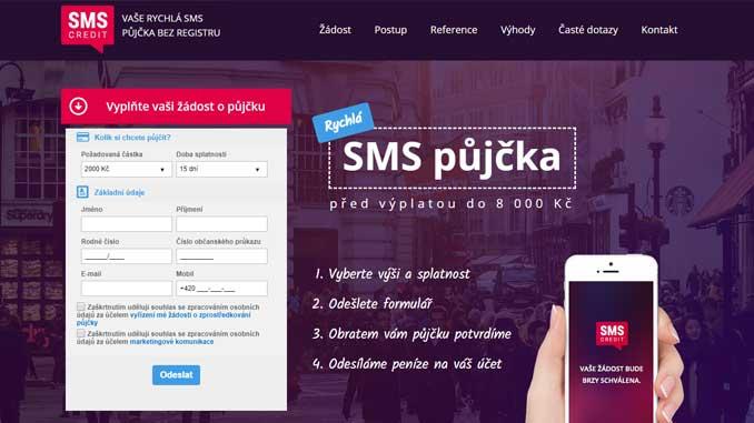 SMS Credit půjčka ihned na účet